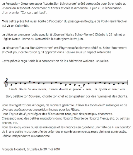 Laude Sion Salvatorem. Opus 35 bon - version 5. site Intro